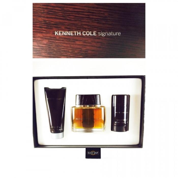 Signature by Kenneth Cole (Gift Set) - 100ml Eau De Toilette Spray + 80ml Deodorant Stick + 100ml After Shave Balm (Men)