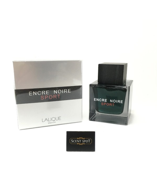 Encre Noire Sport by Lalique (New in Box) 100ml Eau De Toilette Spray (Men)