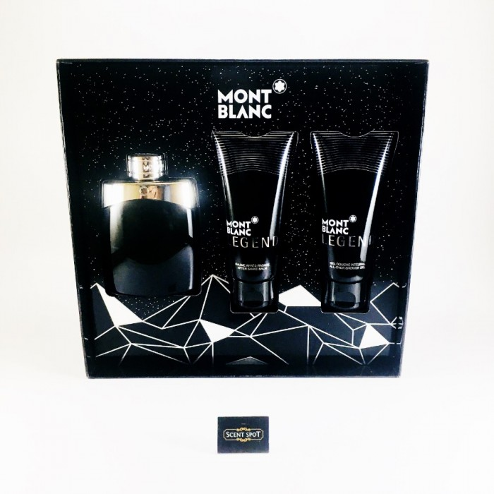 Legend by Mont Blanc (Gift Set) - 100ml Eau De Toilette Spray + 100ml After Shave Balm + 100ml Shower Gel For Men (Men)