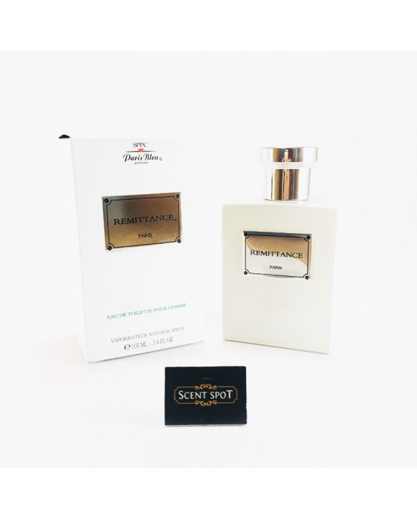 Remittance by Paris Bleu (New in Box) 100ml Eau De Toilette Spray (Men)