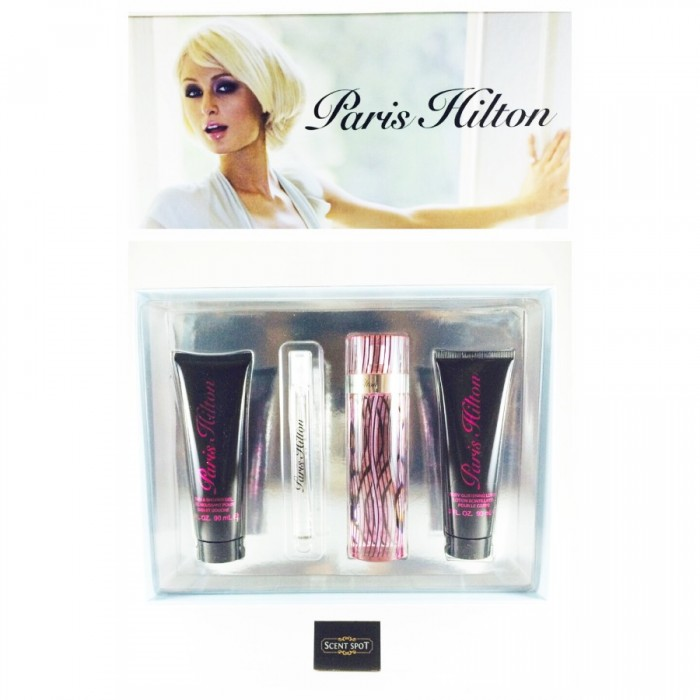 Paris Hilton by Paris Hilton (Gift Set) - 100ml Eau De Parfum Spray + 90ml Body Lotion + 90ml Shower Gel + 10ml Mini Eau De Parfum Spray (Women)