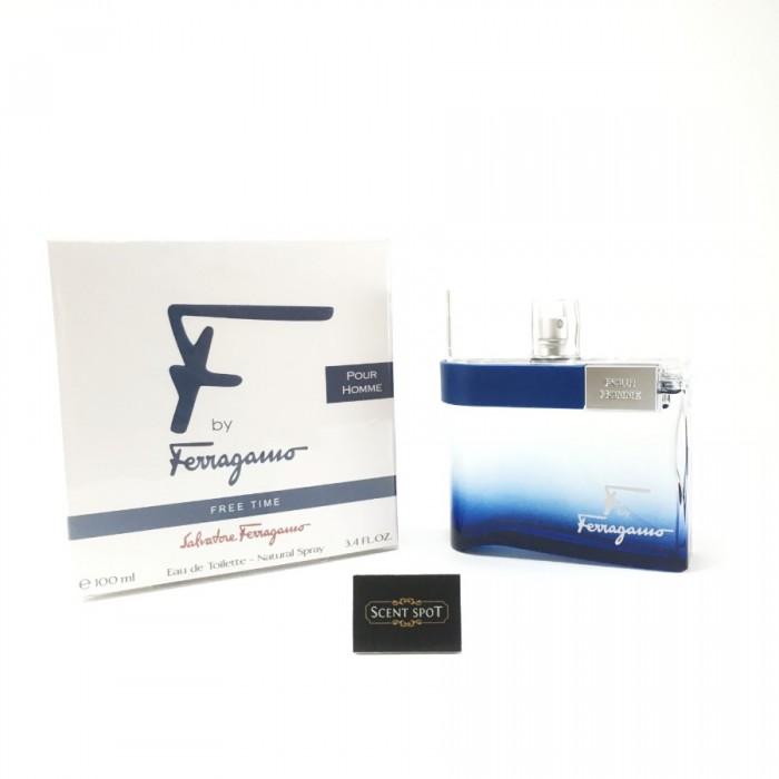 F by Ferragamo Free Time by Salvatore Ferragamo (New in Box) 100ml Eau De Toilette Spray (Men)