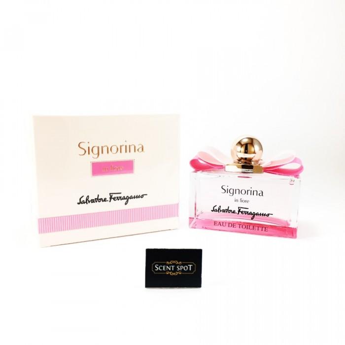 Signorina In Fiore by Salvatore Ferragamo (New in Box) 100ml Eau De Toilette Spray (Women)