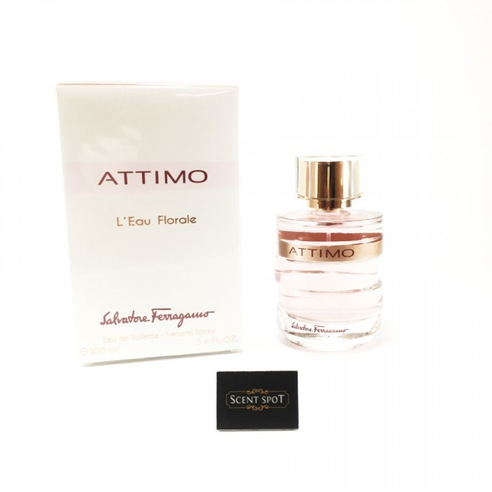 Attimo L'eau Florale by Salvatore Ferragamo (New in Box) 100ml Eau De Toilette Spray (Women)