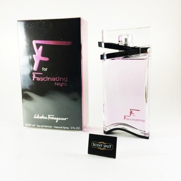 F for Fascinating Night by Salvatore Ferragamo (New in Box) 90ml Eau De Parfum Spray (Women)