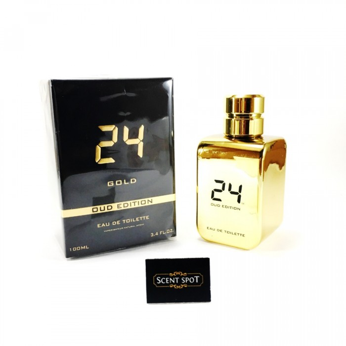 24 Gold Oud Edition by ScentStory (New in Box) 100ml Eau De Toilette Spray (Unisex)