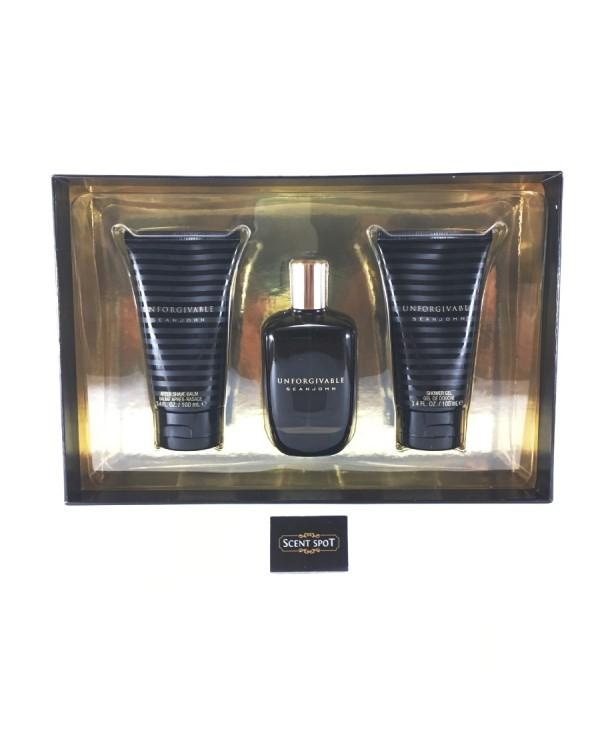 Unforgivable by Sean John (Gift Set) - 125ml Eau De Toilette Spray + 100ml Shower Gel + 100ml After Shave Balm For Men (Men)