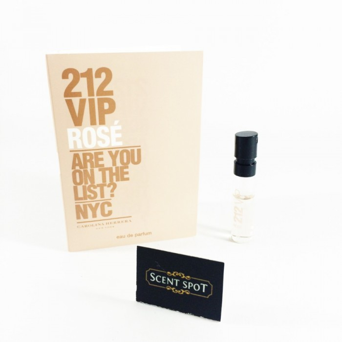 212 VIP Rose by Carolina Herrera (Vial / Sample) 2ml Eau De Parfum Spray (Women)