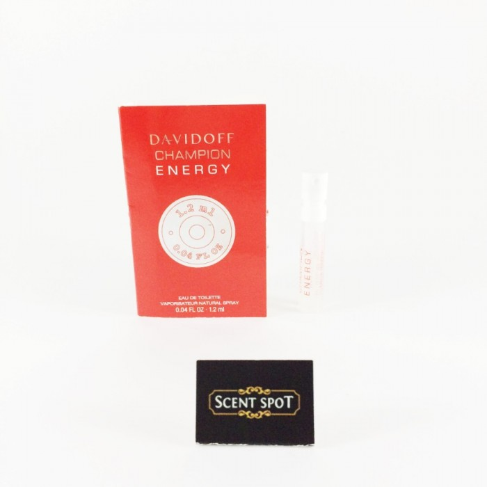 Champion Energy by Davidoff (Vial / Sample) 1.2ml Eau De Toilette Spray (Men)