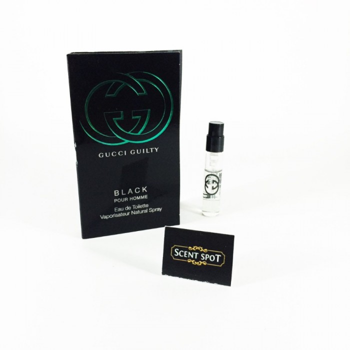 Guilty Black Pour Homme by Gucci (Vial / Sample) 2ml Eau De Toilette Spray (Men)