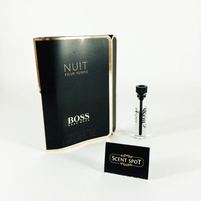 Nuit Pour Femme by Hugo Boss (Vial / Sample) 2ml Eau De Parfum Dab On (Women)