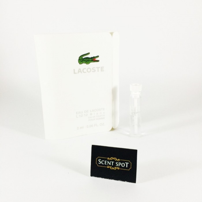 Eau de Lacoste L.12.12 Blanc by Lacoste (Vial / Sample) 2ml Eau De Toilette Dab On (Men)
