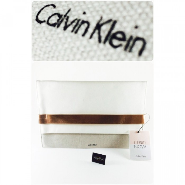 Calvin Klein Accessories - Colour: White and Grey - 27.5cm x 2cm x 18cm by Calvin Klein (Pouch) (Women)