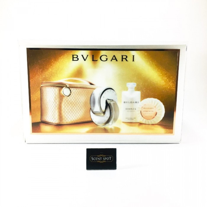 Omnia Crystalline by Bvlgari (Gift Set) - 65ml EDT + 75ml Body Lotion + 75ml Scented Soap + Beauty Pouch for Women