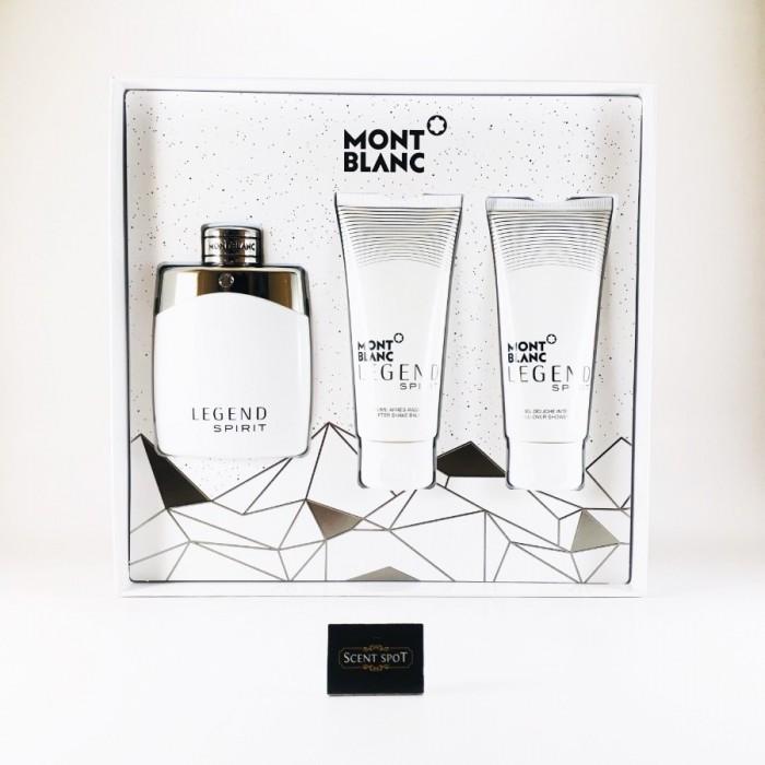 Legend Spirit by Mont Blanc (Gift Set) - 100ml Eau De Toilette + 100ml After Shave Balm + 100ml Shower Gel For Men (Men)