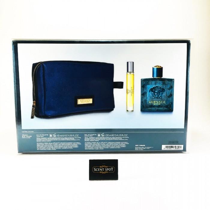 Eros by Versace (Gift Set) - 100ml Eau De Toilette + 8ml Mini Eau De Toilette Spray ...