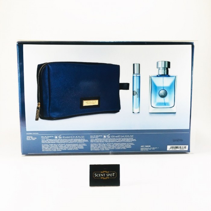 Pour Homme by Versace (Gift Set) - 100ml Eau De Toilette + 8ml Mini Eau De Toilette Spray In Pouch For Men (Men)