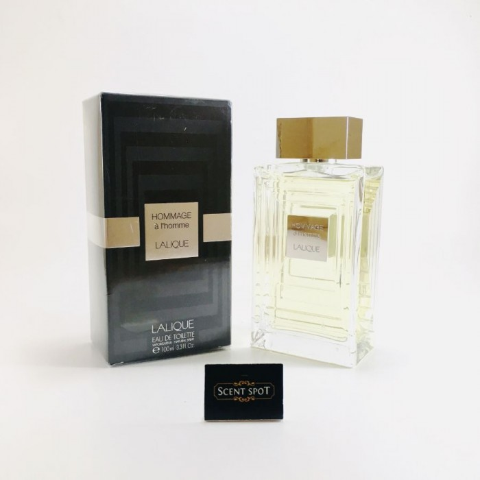 Hommage A L'homme by Lalique (New in Box) 100ml Eau De Toilette Spray (Men)