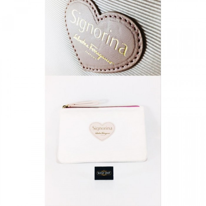 Salvatore Ferragamo Accessories - Colour: Peach - 20cm x 2.5cm x 13.5cm by Salvatore Ferragamo (Pouch) (Women)
