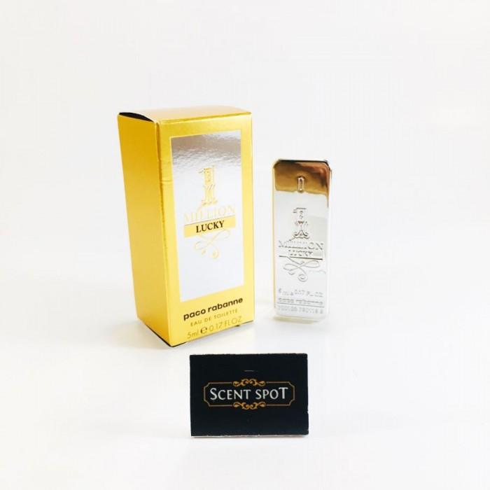 1 Million Lucky by Paco Rabanne (Miniature / Travel) 5ml Eau De Toilette Dab On (Men)