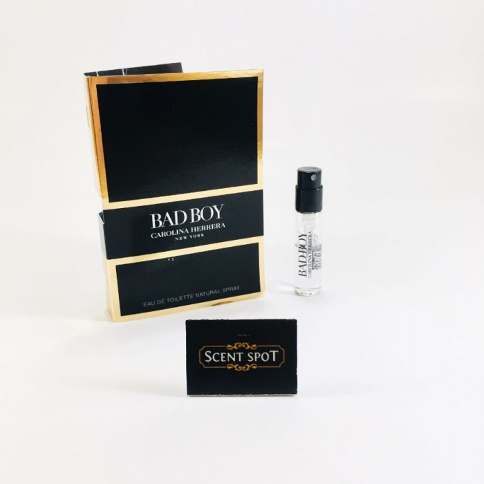 Bad Boy by Carolina Herrera (Vial / Sample) 1.5ml Eau De Toilette Spray (Men)