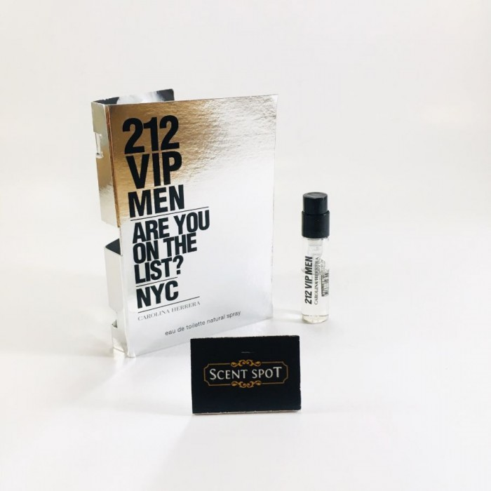 212 VIP by Carolina Herrera (Vial / Sample) 1.5ml Eau De Toilette Spray (Men)