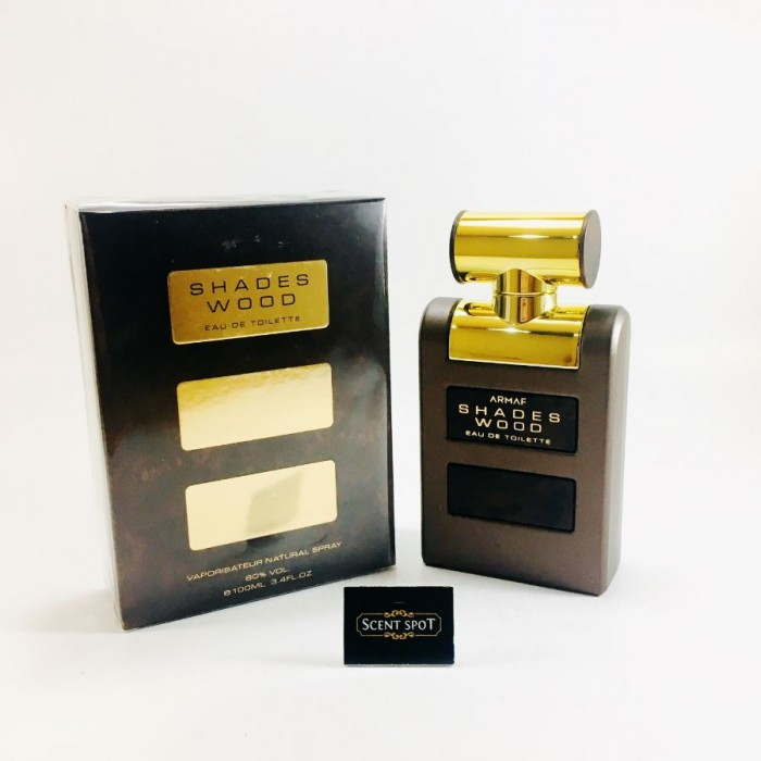 Shades Wood by Armaf (New in Box) 100ml Eau De Toilette Spray (Men)