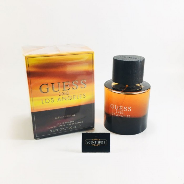 Guess 1981 Los Angeles by Guess (New in Box) 100ml Eau De Toilette Spray (Men)