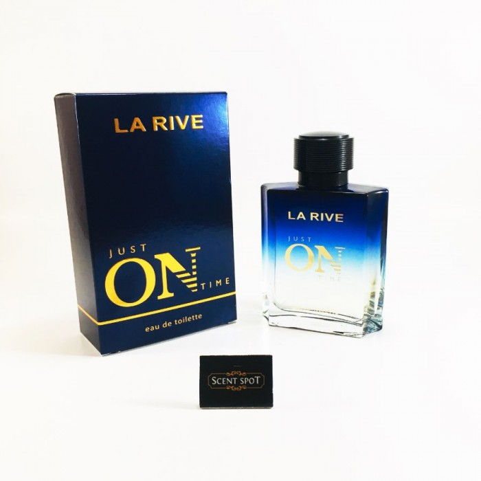 Just On Time by La Rive (New in Box) 100ml Eau De Toilette Spray (Men)