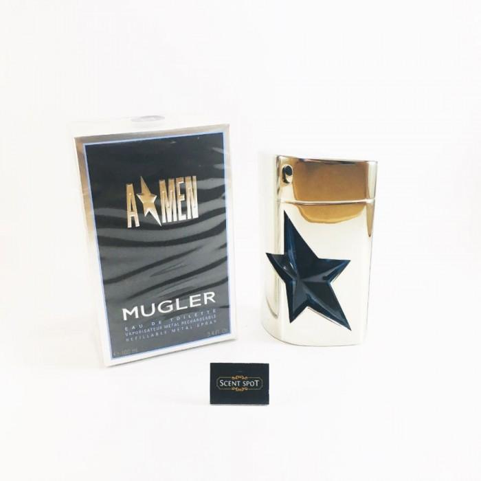 A*Men Refillable (Metal) by Thierry Mugler (New in Box) 100ml Eau De Toilette Spray (Men)