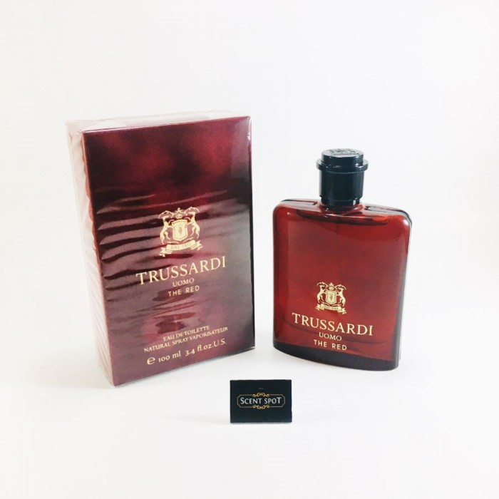 Uomo The Red by Trussardi (New in Box) 100ml Eau De Toilette Spray (Men)