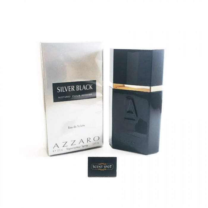 Silver Black by Azzaro (New in Box) 100ml Eau De Toilette Spray (Men)