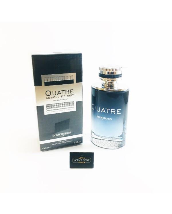 Quatre Absolu De Nuit by Boucheron (New in Box) 100ml Eau De Parfum Spray (Men)