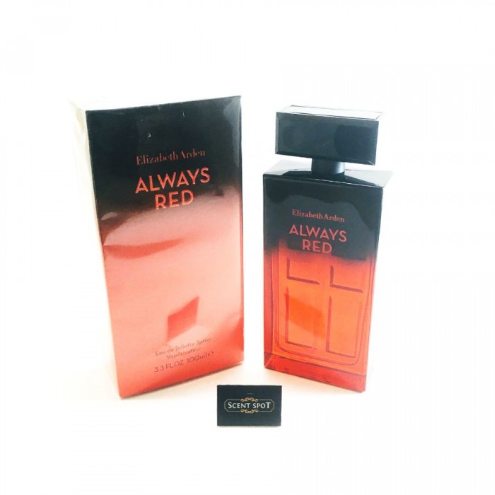 Always Red by Elizabeth Arden (New in Box) 100ml Eau De Toilette Spray (Women)