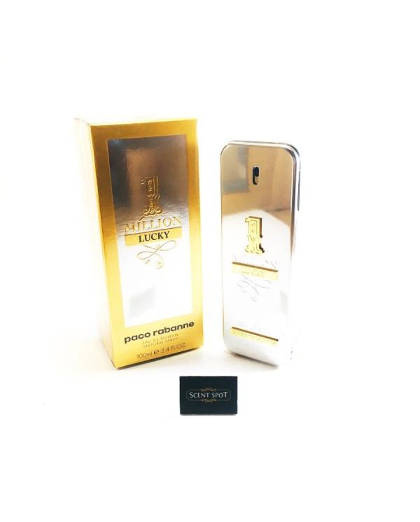 1 Million Lucky by Paco Rabanne (New in Box) 100ml Eau De Toilette Spray (Men)
