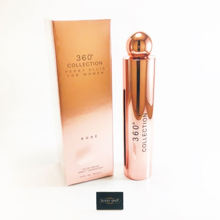 360 Collection Rose by Perry Ellis (New in Box) 100ml Eau De Parfum Spray (Women)