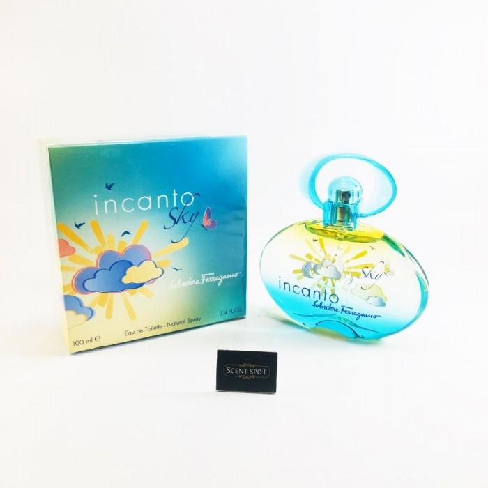 Incanto Sky by Salvatore Ferragamo (New in Box) 100ml Eau De Toilette Spray (Women)