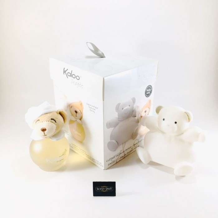 Dragee by Kaloo (Gift Set) - 100 ml Eau De Senteur Spray (Alcohol Free) + Free Bear Night Light (Unisex)