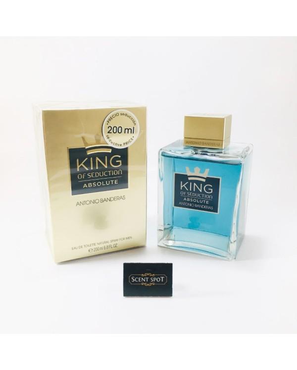 King Of Seduction Absolute by Antonio Banderas (New in Box) 200ml Eau De Toilette Spray (Men)