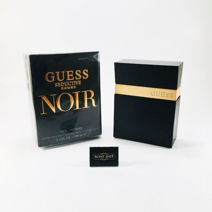 Seductive Homme Noir by Guess (New in Box) 100ml Eau De Toilette Spray (Men)