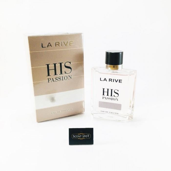 His Passion by La Rive (New in Box) 100ml Eau De Toilette Spray (Men)