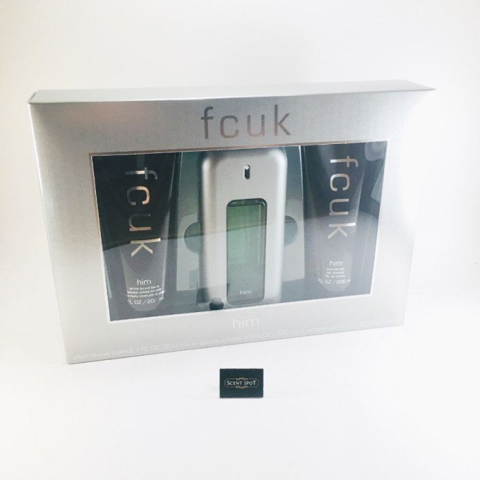 Fcuk by French Connection (Gift Set) - 100ml Eau De Toilette Spray + 200ml After Shave Balm + 200ml Shower Gel (Men)