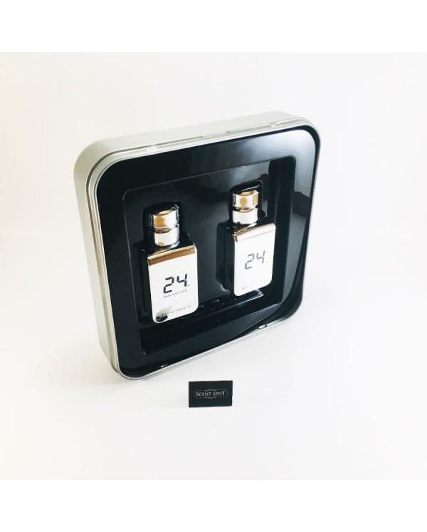 24 Platinum by Scentstory (Gift Set) - 24 Platinum 50ml Eau De Toilette Spray + 24 Platinum Oud 50ml Eau De Toilette Spray (Men)