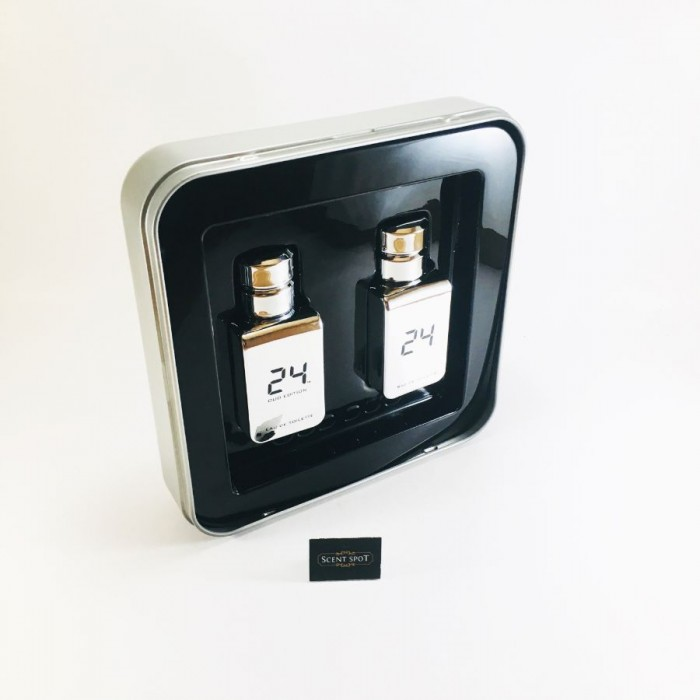 24 Platinum by Scentstory (Gift Set) - 24 Platinum 50ml Eau De Toilette Spray + 24 Platinum Oud 50ml Eau De Toilette Spray (Men)