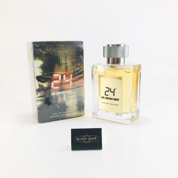 24 Live Another Night by Scentstory (New in Box) 100ml Eau De Toilette Spray (Men)