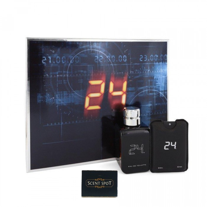 24 The Fragrance by Scentstory (Gift Set) - 100ml Eau De Toilette Spray + 18ml Mini EDT Travel Spray (Men)