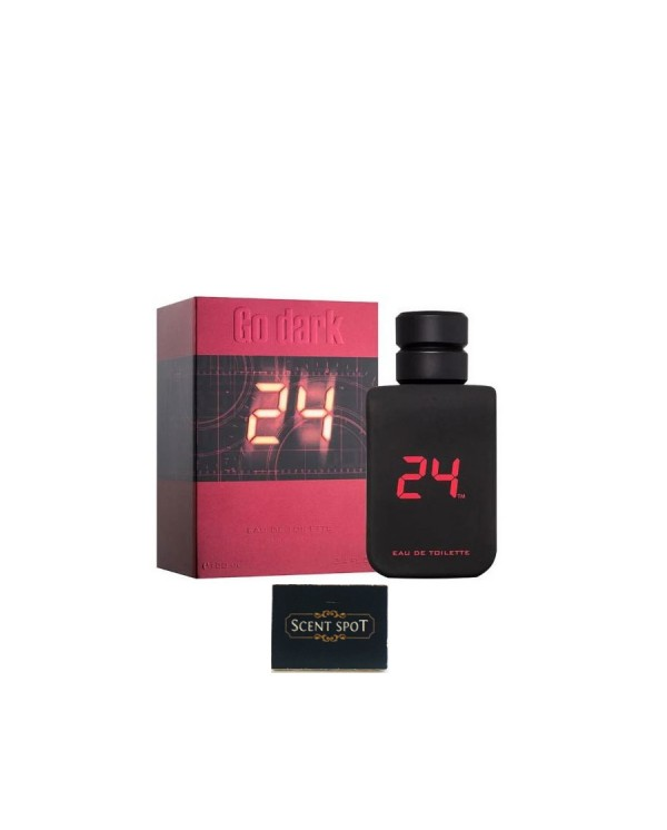 24 Go Dark The Fragrance by Scentstory (New in Box) 100ml Eau De Toilette Spray (Men)