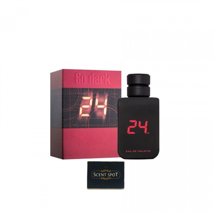 24 Go Dark The Fragrance by Scentstory (New in Box) 100ml Eau De Toilette Spray (Men)