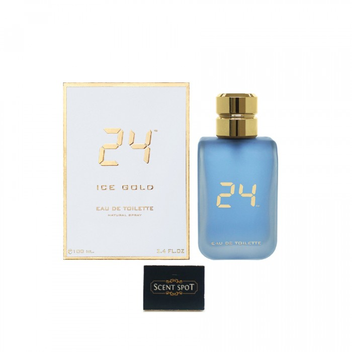 24 Ice Gold by Scentstory (New in Box) 100ml Eau De Toilette Spray (Men)