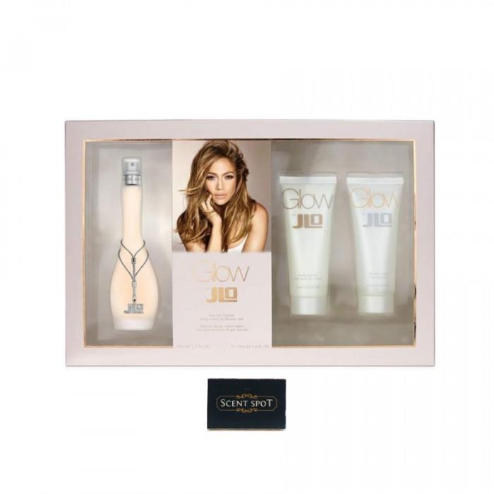 Glow by Jennifer Lopez (Gift Set) - 100ml Eau De Toilette Spray + 75ml Body Lotion + 75ml Shower Gel (Women)